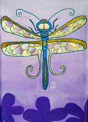 Blue N Gold Dragonfly  by WowLovely88