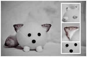 Arctic Fox Plush Ball by mihoyonagi