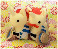 Commission - MLP Itsy-Ponies Flim + Flam by mihoyonagi