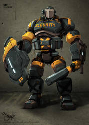 Robot Security by thaigraff