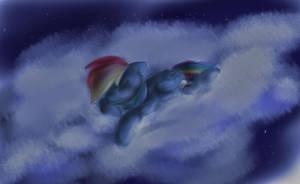 Sleepy Rainbow Dash by ManicMoron