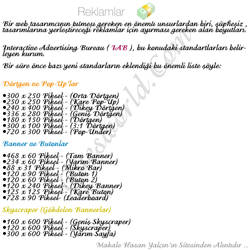 Reklam ve Banner Standartlari by gues-nK