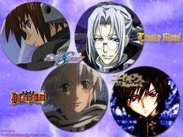 Kira, Abel, Allen, Lelouch by KiraLacus