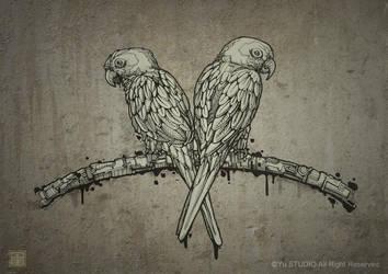 Love birds by Harry-Yu