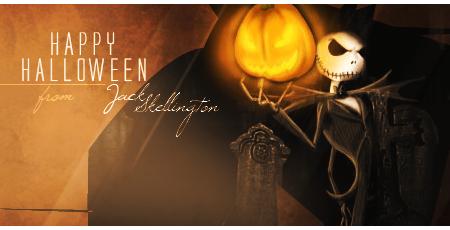 Happy Halloween from Jack Skellington by Leettle1