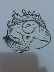Lizard Bird by Dscapades