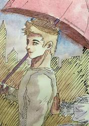 Umbrella Guy by Jiejiep