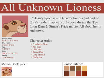 Unknown Lioness - Outsider 01 - Beauty Spot by UnknownLioness