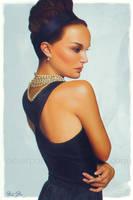Natalie Portman Pin-up by OmarDiazArt
