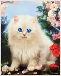 White Kitty (old work) by OmarDiazArt