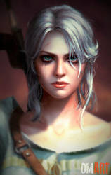 Ciri The Witcher III Fanart Closeup version by OmarDiazArt