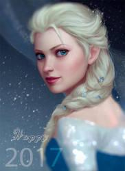 Elsa Frozen Fanart by OmarDiazArt