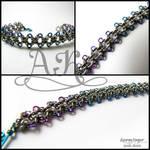 Captive Zen bracelet - stainless steel + multi ANb by ArmoredKoi