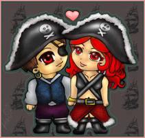 Valentine's Pirates - Commish by Neko-Musume