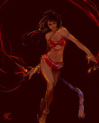 fire dancer by Rephen