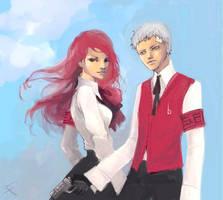 Mitsuru and Akihiko by Rephen