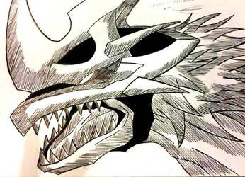 imperialdramon dragon mode face by demongaro