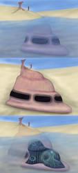 Spaceship Design Concept Art by jinkies36