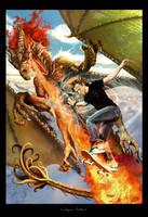 Dragon-rider by YoDCreaction