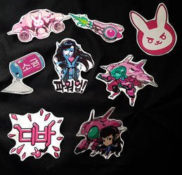 D.va Stickers by LZCCreations