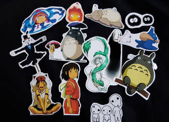 Studio Ghibli stickers! by LZCCreations