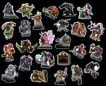 World of Warcraft stickers by LZCCreations