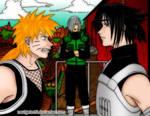 coloring of Naruto Fox VS Fan by Navigator51