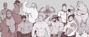 Overwatch Blokes: Shirtless Version by iBlokes