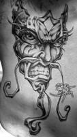 Mask Tattoo by DavidBollt