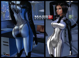 ME3: Illusive Man-Infiltrator_Dr.Eva_CatSuit :3 by Darc4ssass1nCMD