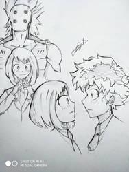 Ochako sketch page by MayurSingh007