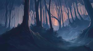Erlking forest by Iselinka