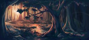 Erlking forest #4 by Iselinka