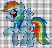 Rainbow Dash Pattern by Jackiekie