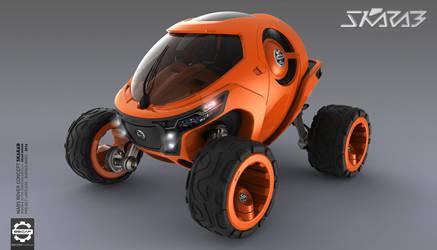 Skarab - Mars Rover - Front by Secap