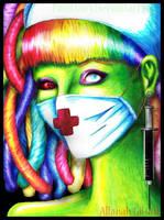 CyberPunk Nurse by PaintFairy