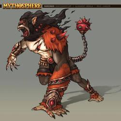 Mythosphere - Hanuman by jasonwang7