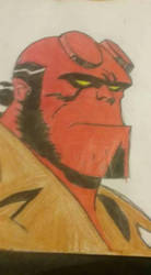 hellboy by redhoodlycan
