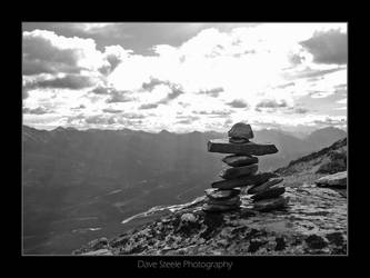 Inuksuk Over Jasper by davesteele