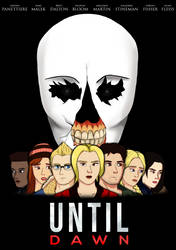 Scream-themed Until Dawn poster by coDDRy