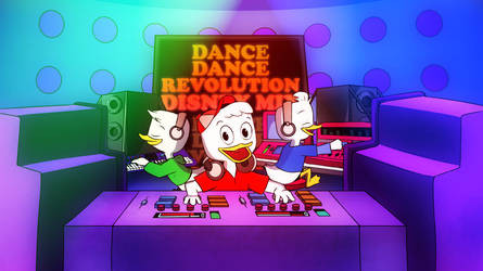 Disney Mix featuring 2017 Huey, Dewey, and Louie by coDDRy