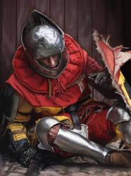 Tired Knight Study by thdark