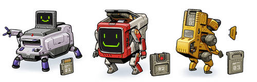 Cartridge Bots by thdark