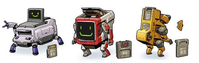 Cartridge Bots by thdark