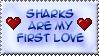 Love Sharks ::Stamp:: by BklynSharkExpert