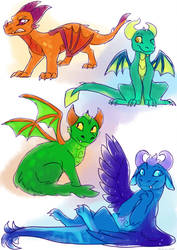 baby reiginited dragons by meroaw