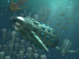 Marine Daleks by Ratbullets