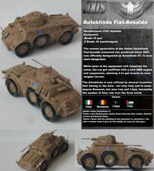 War On Pi - Axis Autoblinda Armoured Car by wojti2000