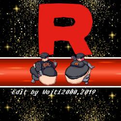 Team Rocket Grunts fat Sprite Edits by wojti2000