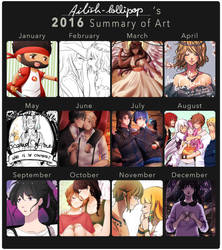 2016 summary of art by Ailish-Lollipop